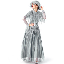 Deluxe Ghost Bride Costume Cosplay Women Halloween Princess Dress Clothing For Adult