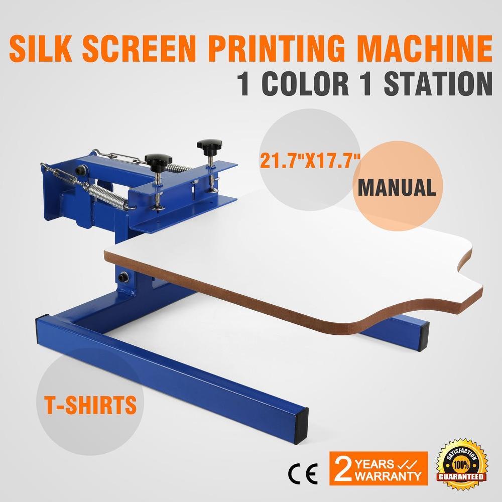 1 Color 1 Station Screen Printing Machine DIY T-Shirt Press Printer Printer Press Equipment