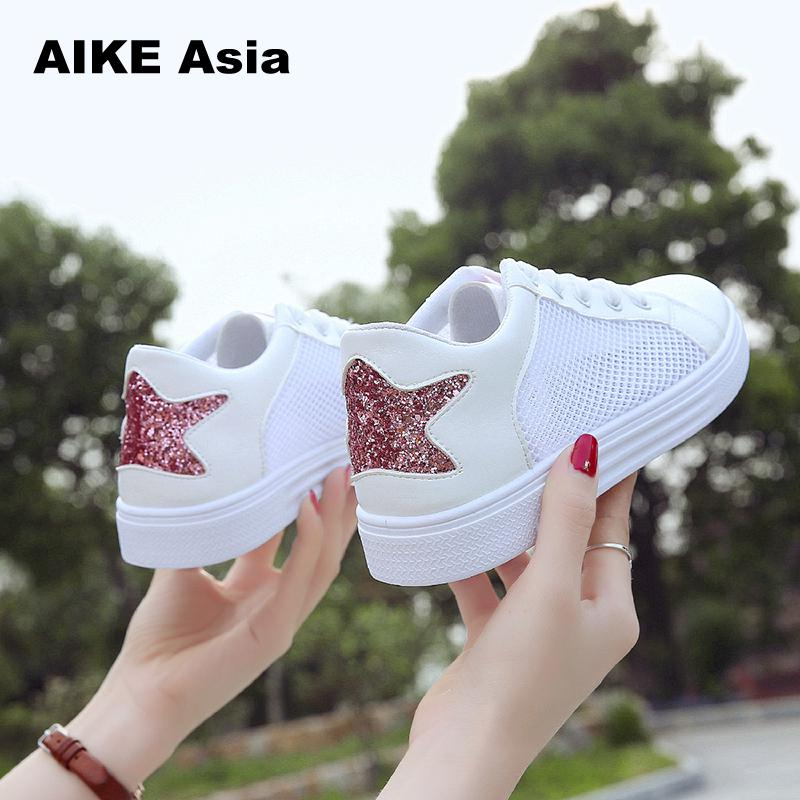 Casual Cutouts Lace Canvas Shoes Summer Women Hollow Floral Breathable Platform Flat White Black Color embroidery air Mesh #777 hot sale summer women shoes cutouts lace canvas shoes hollow floral breathable platform flats shoe sapato feminino zapatos mujer