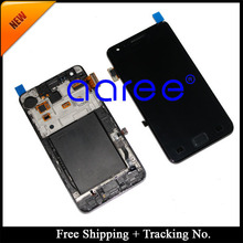 Free Shipping  Tracking No.4.3′ tested Original For Samsung Galaxy S2 i9100 LCD  Digitizer Assembly with frame – White/Black