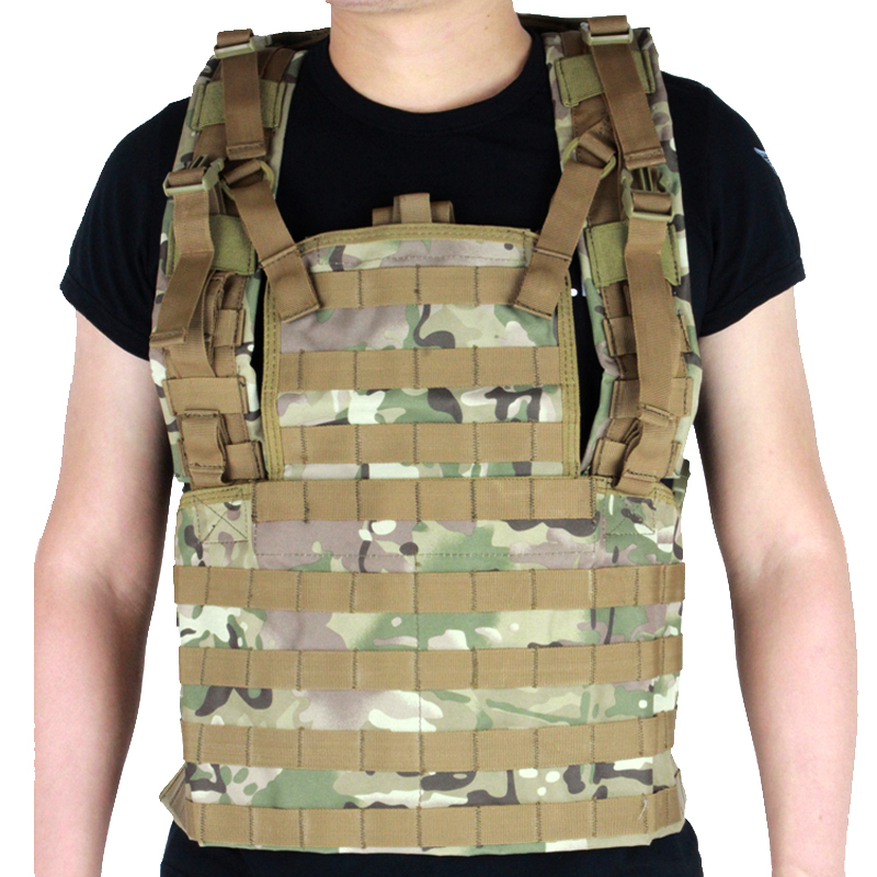 Military Multicam Camouflage Tactical Combat Vest Airsoft Paintball Wargame Molle Ammo Chest Rig military tactical vest spanker mp7 chest rig airsoft painball military combat vest multicam airsoft plate carrier ammo