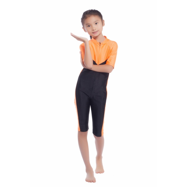 Kids Girls Modest Swimwear Swimsuit Lovely Muslim Islamic One-piece Swimsuit S-XL Best Gift for Children New Style