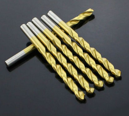 10PCS 5.0mm-9.0mm High Speed Steel Titanium Coated Straight Shank Twist Drill Bits For Metal (5mm/5.5mm/6mm/6.5mm/7mm/8mm/9mm)