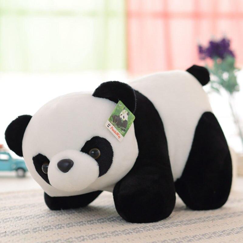 Panda Plush Toy Cute Panda Stuffed Soft Doll Baby Kids Toy Gift For Girl And Boy 1pcs green cute 7 super mario bros yoshi and apple rare cute soft plush toy doll kids birthday gift boy plush game toys