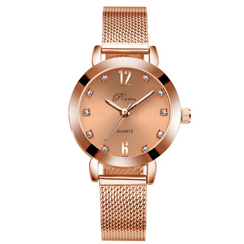 2020 Ladies Wrist Watches Women Wristwatch Silver Brand Luxury Quartz Female Clock Rose Gold Stainless Steel - All Gold