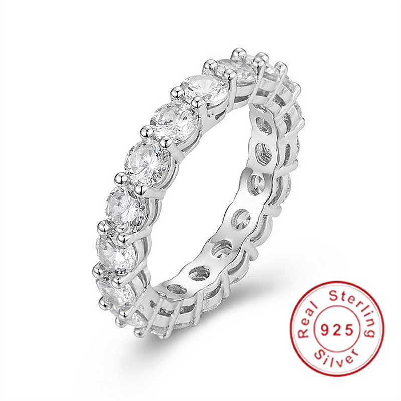 925 SILVER PAVE Round cut 4*4mm FULL SQUARE Simulated Diamond CZ ETERNITY BAND ENGAGEMENT WEDDING Stone Rings Size 5,6,7,8,9,10925 SILVER PAVE Round cut 4*4mm FULL SQUARE Simulated Diamond CZ ETERNITY BAND ENGAGEMENT WEDDING Stone Rings Size 5,6,7,8,9,10