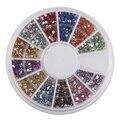 Novo Prático Superior 1.5mm Nail Art Rhinestone Glitter Dica Mix Gems Decoração