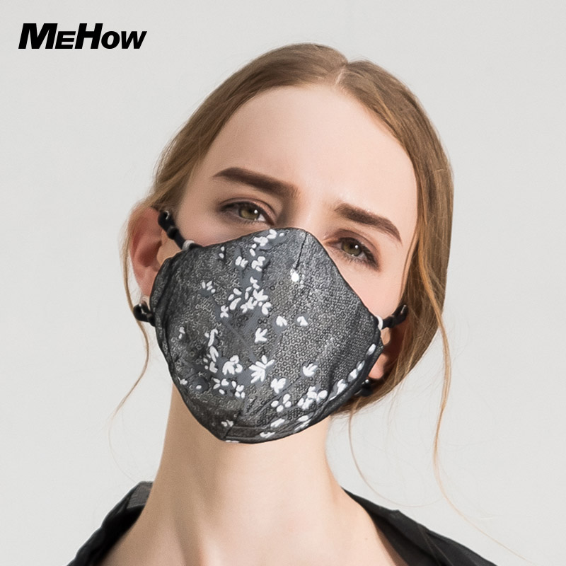 Apparel Accessories Men's Masks Face Mask Cotton Mouth Mask Black Anti Haze Dust Masks Filter Windproof Mouth-muffle Bacteria Flu Fabric Cloth Respirator High Quality