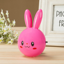 Cartoon Rabbit LED Night Light Plug Lamp On Off Button Switch Wall Night Lamp With US Plug For Kid Baby Children Bedroom Lamp