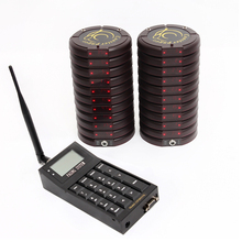 restaurant Coaster paging system,1pcs transmitter,20pcs pagers,1pc charger,waiter call system,take food system,queue calling wireless calling system restaurant serving wireless restaurant remote waiter calling paging system 9pcs call transmitter