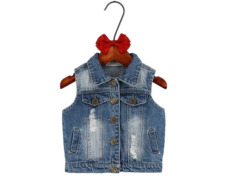 811e14a32 Children girls outerwear Spring Autumn Kids denim clothes girl ...