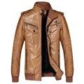 Men Leather Jacket Jaqueta Masculinas Inverno Couro Jacket Men Jaquetas De Couro Mens Winter Outwear coat plus size XXXL