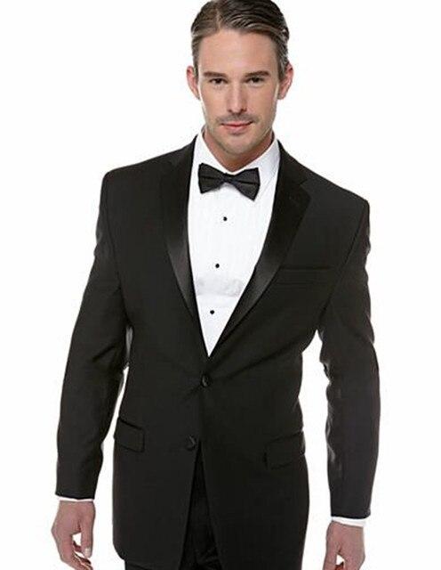 classic black men suits tuxedos for men shawl Lapel men Wedding ...
