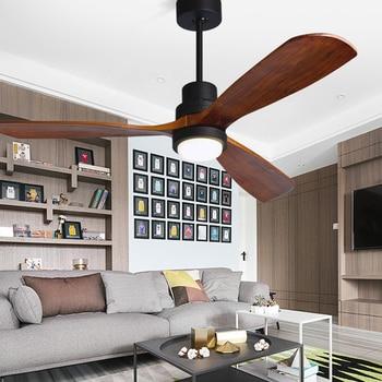 Retro Deckenventilatoren   Moderne Fernbedienung 52 Zoll Holz Klingen Retro Decke Fan Mit AC220V Eingang 15 W Decke Lichter