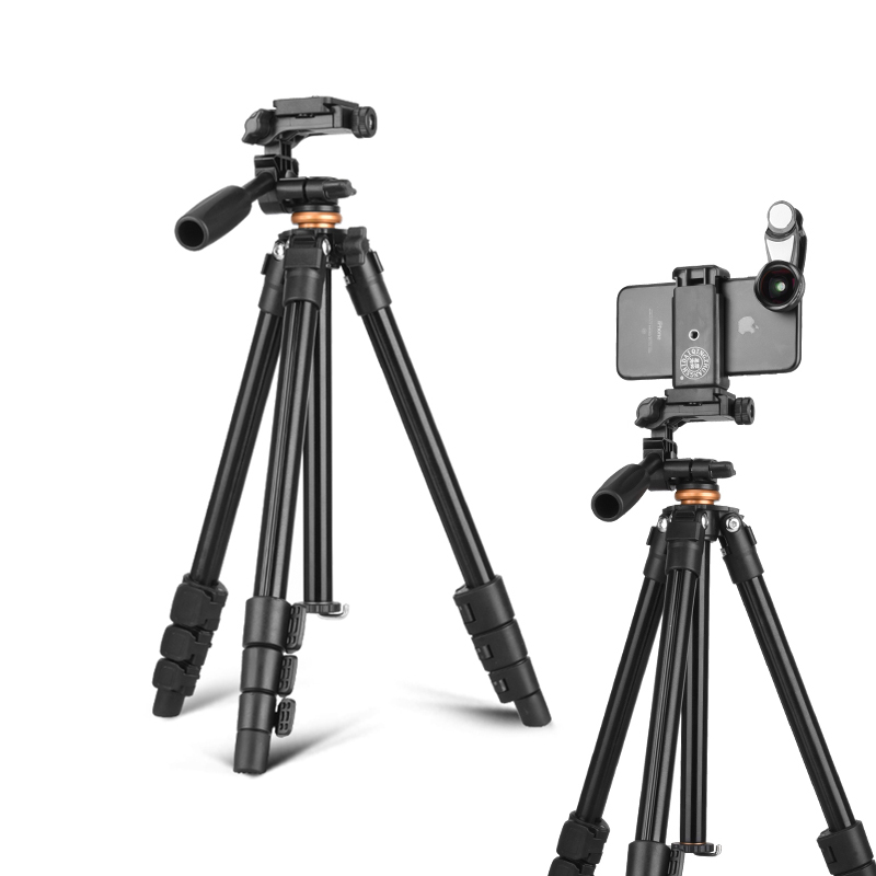 QZSD 2018 nouveau Q160A Portable téléphone Portable trépied extérieur voyage prise de vue trépied léger pour téléphone Mobile/appareil photo/DV/caméscope