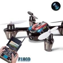 5.8G FPV rc drone F180D DFD remote control quadcopter dengan LCD display dan kamera HD rc terbang UFO telepon Control drone untuk hadiah