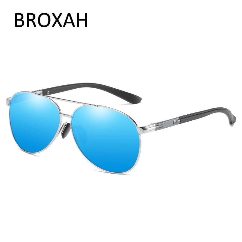 Broxah Polarized Sunglasses Men 2019 Brand Driving Sun Glasses for Men Pilot Sunglasses Male Shades UV400 Gafas De Sol Hombre in Men 39 s Sunglasses from Apparel Accessories