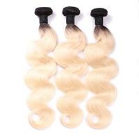MsToxic 1B/613 блонд бразильские пучки волнистых волос 100% человеческие волосы пучки не Реми волосы переплетения 12 24 дюймов