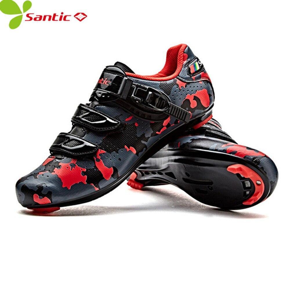 Santic Men Road bike Cycling font b Shoes b font Carbon Fiber Cycling Racing Team font