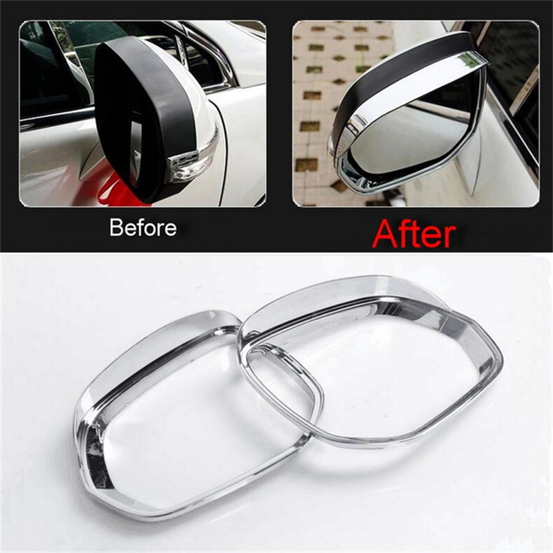 ABS Chrome Side Mirror Rain Shield for Peugeot 3008 Eyebrow Cover Trim Car Styling Accessories 2013 2014 2015 2pcs/set for mazda 3 axela 2014 2015 2016 abs chrome front grille trim center grill cover around trim car styling accessories 11 pcs set