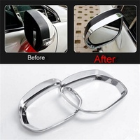 ABS Chrome Side Mirror Rain Shield for Peugeot 3008 Eyebrow Cover Trim Car Styling Accessories 2013 2014 2015 2pcs/set