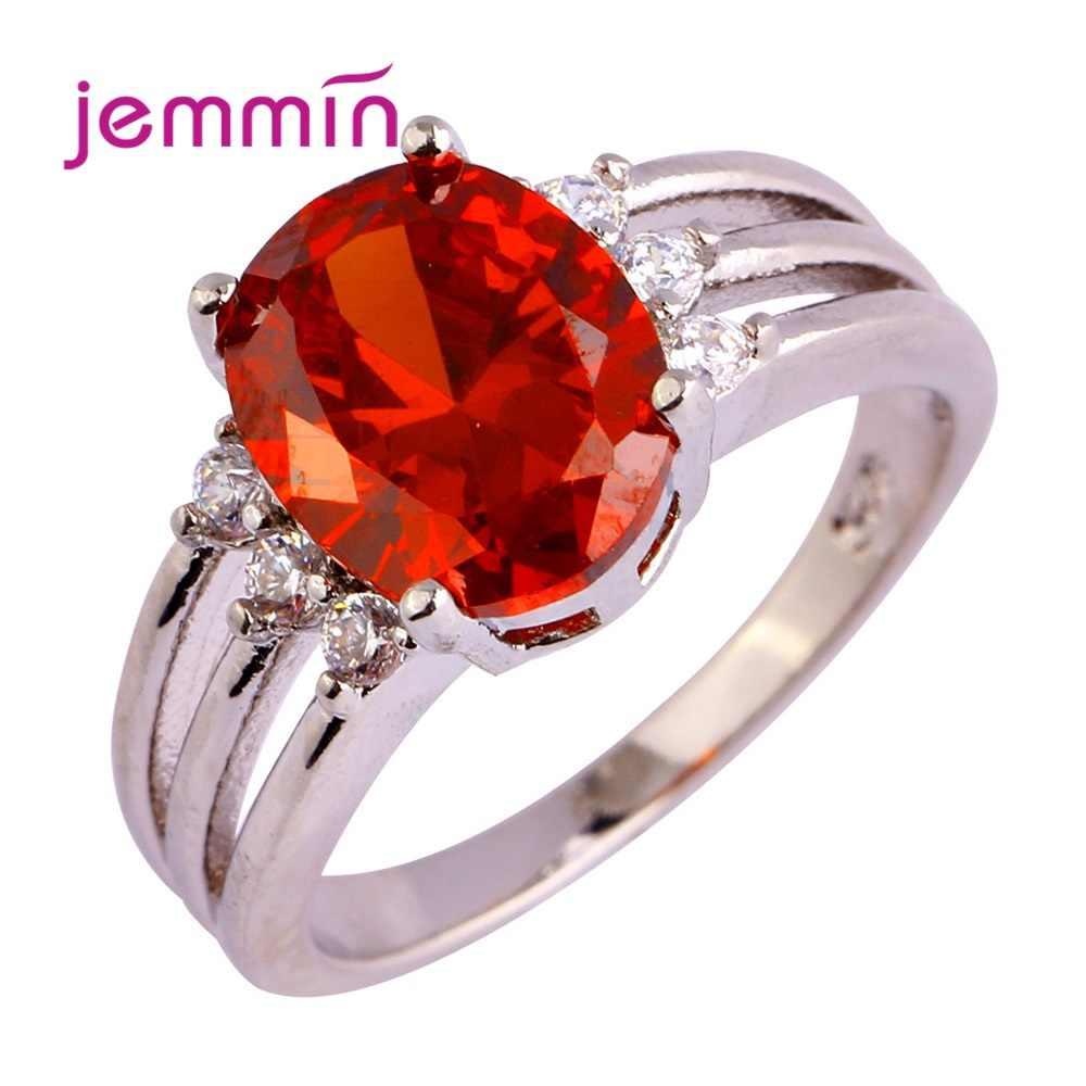 ใหม่แฟชั่น 925 เงินสเตอร์ลิงเครื่องประดับแหวน Pave SHINY Big Sparkling Cubic Zirconia สวยงานแต่งงานครบรอบ Coupl
