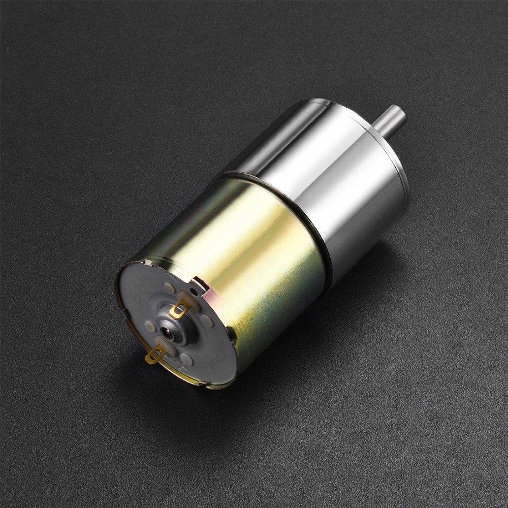 цена на 12V DC Motor 400RPM Micro Gear Motor Box 37mm Speed Reduction Electric Gearbox Excentral Output Shaft High Torque
