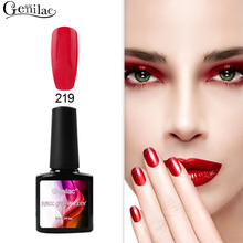 Genilac Nail Gel Polish 10ml1pcs Lacquer UV Soak Off bluesky quality Gel Use With Base Top Gel Need UV Lamp for Nail Art