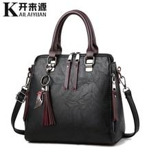 купить 100% Genuine leather Women handbags 2019 New Ladies Handbags Women Messenger Bags TotesTassel Designer Crossbody Shoulder Bag по цене 1561.85 рублей