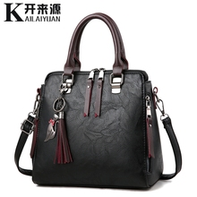 100% Genuine leather Women handbags 2019 New Ladies Handbags Women Messenger Bags TotesTassel Designer Crossbody Shoulder Bag