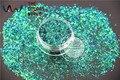 TCR402 Camaleón Brillo Verde Con Morado y Oro brillo Tira barra corta color de la forma 0.2*3 MM Tamaño del brillo para el Arte del clavo