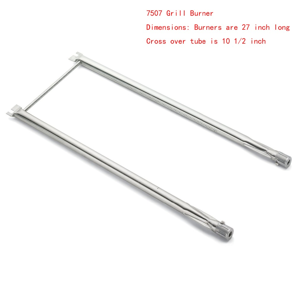 BBQ Parts 7507 Gas Grill Replacement 27 Inch Straight Stainless Steel Burner for Genesis Series Models: Silver A, Spirit 500