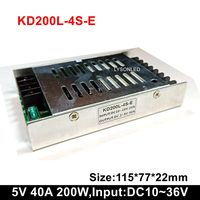 5V40A 200W Slim Bus/vehicle LED Scrolling Message Display Power Supply , Input DC10~36V Message Signboard Power Driver