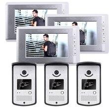 Xinsilu. ShippingHome 7″ Video Intercom Entry Door Phone System 2 Monitors + RFID Access Reader Camera In Stock Wholesale