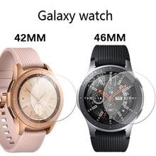 a8efb10074c Novo filme para Samsung Galaxy Relógio Pulseiras de Relógio HD película  transparente temperado filme de vidro temperado