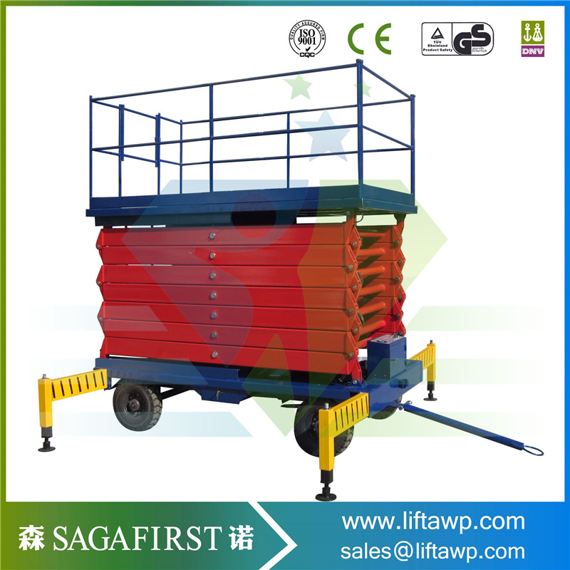 China Best Selling Hydraulic Mobile Scissor Lift Electric Man Lift With European Quality