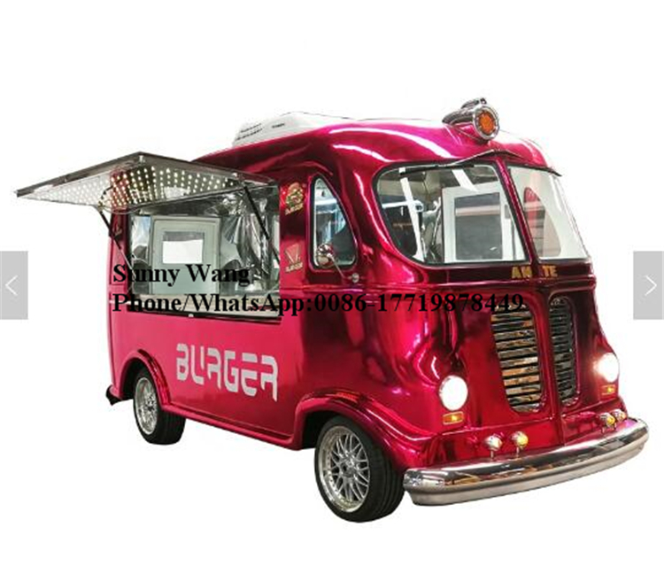 2019 China Most Popular Vintage Food Truck For Sale Electric Food Cart Food Van