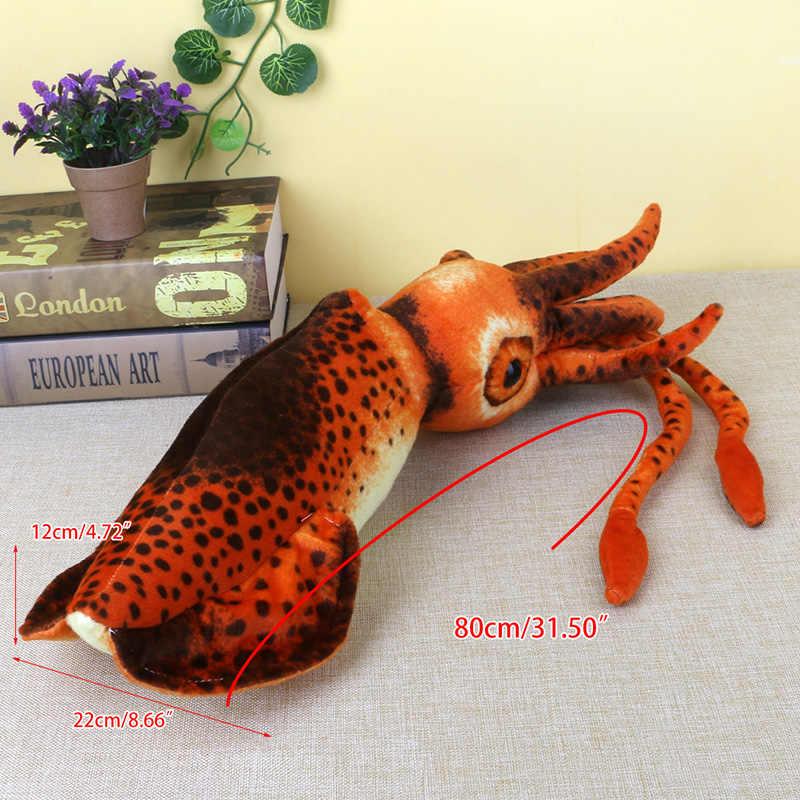 80 см кальмар рыба приносящая удачу мягкая плюшевая игрушечная Подушка для детей подарок на день рождения