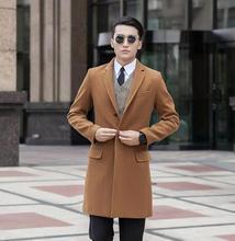 Повседневная однобортный шерстяное пальто двойной брестед шинель мужские кашемировые пальто casaco masculino inverno эркек англии 9XL