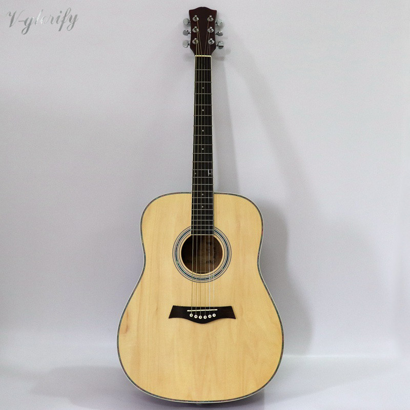 good quality 41 inch acoustic guitar full basswood China factory guitar