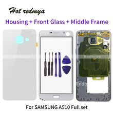 Full Housing Middle Frame For Samsung A7 2016 A710 LCD Front GLASS+Housing Double Metal Frame+Back Glass Battery Cover