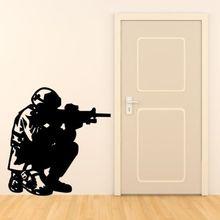 Soldado Del Ejército militar Etiqueta de La Pared de Vinilo Tatuajes de Pared Dormitorio Nursery Art Mural de Pared Decorativos Envío Libre Y-646