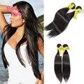 Гало леди волосы 7а бразильский девственные волосы прямые человеческие волосы смешанного длина и той же длины 2 шт. много естественный цвет бесплатная доставка