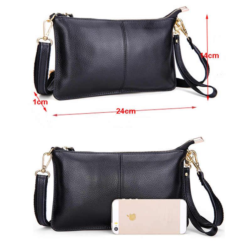 100% женская сумка-мессенджер из натуральной кожи известного бренда женская наплечная сумка клатч женская сумка через плечо для женщин 2019