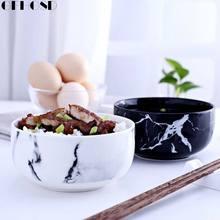 GFHGSD Marble Grain Rice Bowls Kitchen Dinnerware Home Decoration Creative Design Ceramic Bowl Noodle Soup Bowl Ceramic Tools