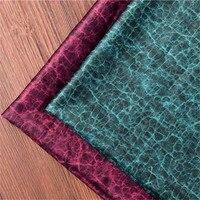FYS61 50*150 cm Vert/Vin Rouge Tissu De Soie de Haute Qualité Guangdong Gaze Qipao Cheongsam Tissu DIY Tissu pour Coudre À La Main Tissu