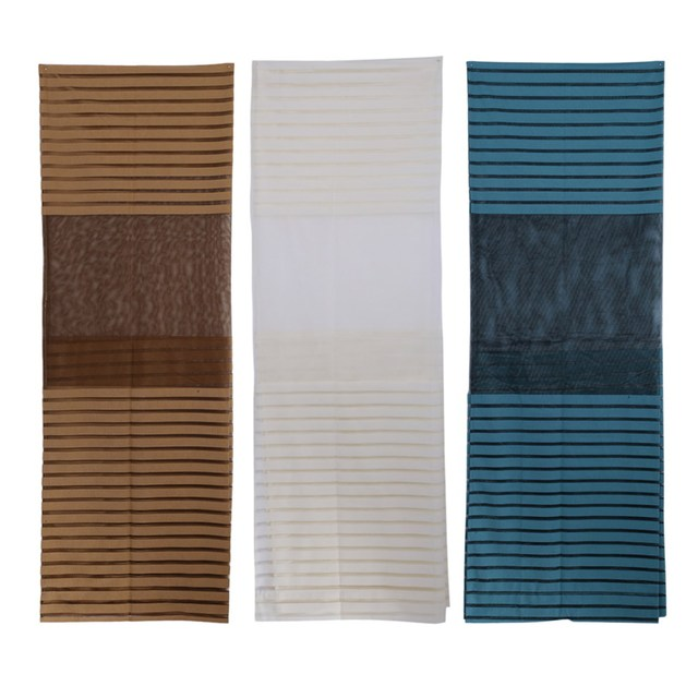 1m x 27m 3 colors summer cortinas curtain sheer window door panel curtains room divider - Door Panel Curtains