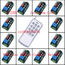 220 V 10 A 12CH Wireless Remote Control Switch Each CH is Independent Learning code Toggle/Momentary LED ON OFF Wireless Switch