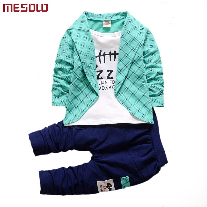 Boys Formal Clothing Kids Attire For Boy Clothes Plaid Suit In September Toddler Suit Set Children's Clothing Boy Free Shipping