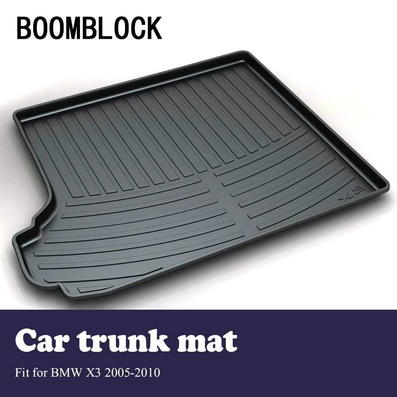 BOOMBLOCK For BMW X3 E83 2005-2010 Waterproof Anti-slip Car Trunk Mat Tray Floor Carpet Pad Protector Auto Accessories boomblock for infiniti q50 q50l waterproof anti slip car trunk mat tray floor carpet pad protector auto accessories